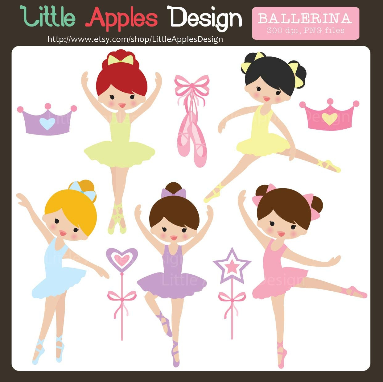 Ballerina Clip Art / Ballerina Clipart / Ballet Clip Art