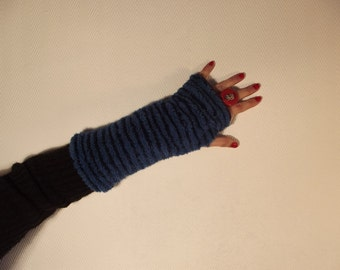 The small blue and purple reversible mittens