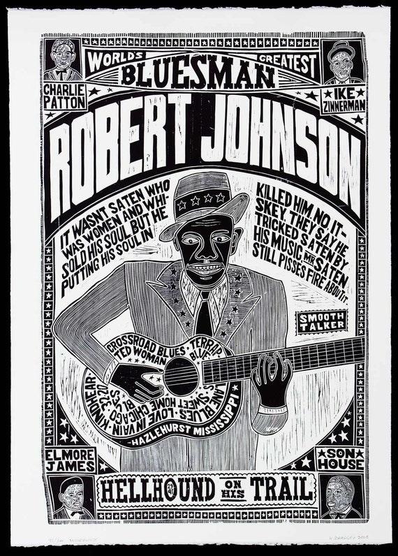 Robert Johnson World S Greatest Bluesman Handprinted