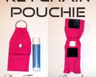 Keychain Pouch/Holder for Chapstick, Lip Balm, USB, etc
