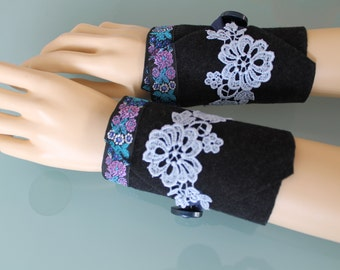 Arm warmers - Fingerless  - Mittens -Gloves -Arm cuffs  -Pure cashmere -  eco friendly