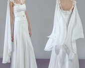 Aurora complete bridal outfit wedding dress ensemble  with jewelry and accessories