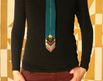 Scarf-tie GATSBY - turquoise