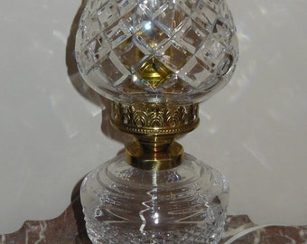 ON SALE -- Waterford Crystal Lamp, Signed