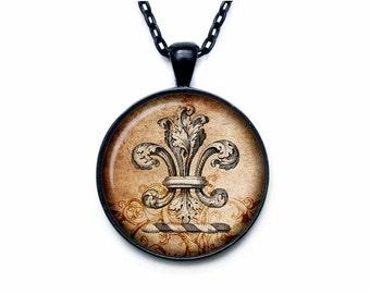 Fleur de lis jewelry Fleur de lis necklace Fleur de lis pendant