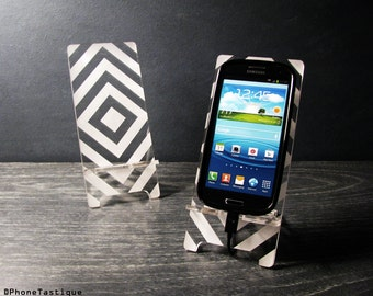 Samsung Galaxy S5 S4 S3 Android Phone Stand Docking Station Hollywood Regency Retro Op Art