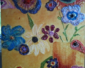 Spring Dreaming, Original painting, acrylic, texture, colorful,
