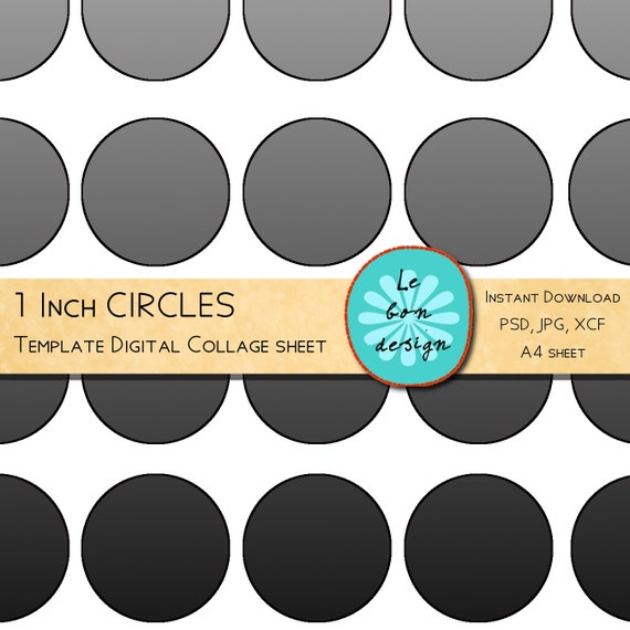 1 inch circle template free - 1 inch circle template 40 circles diy collage sheet jpg