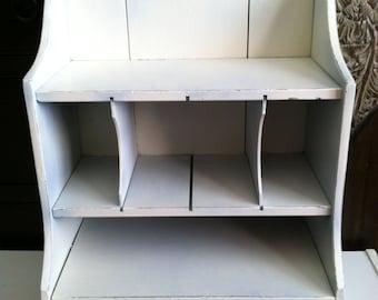 Vintage White Shabby Chic  Wall Shelf