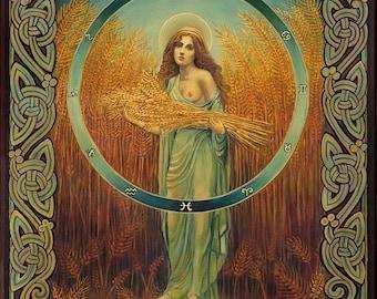 Ceres Roman Fertility & Agriculture Goddess 8x10 Fine Art Print Pagan Mythology Goddess Art