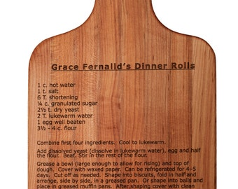 """LASER """"Your Favorite"""" Recipe on a Maple Cutting Board"""