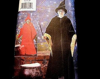 Harry Potter Costume Pattern UNCUT Wizard size 12 14 16 Girls Boys Harry Potter Pattern Robe Gown Hat
