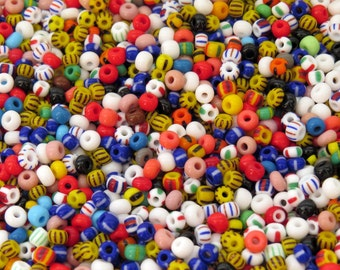 6/0 Opaque Stripes and Solids Mix Czech Glass Seed Beads 20 Grams (CS90)