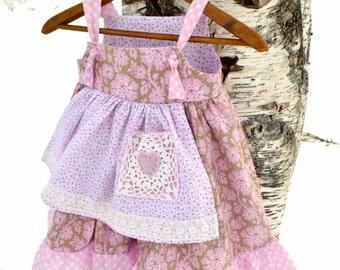 Girls Apron Knot Dress Size 2