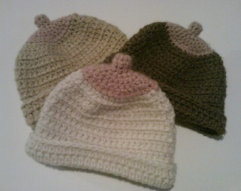 Crocheted Baby Boob Nursing Hat/ Breast Hat/ Accessories/Breast Cancer Awareness/ Handmade/ Breastfeeding Hat/ Winter baby hat/ Baby Beanie/