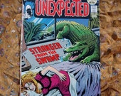 Unexpected No 136 DC Comics 1972 Horror Sci Fi Stranger From The Swamp Alligator Kung Lo Ghost