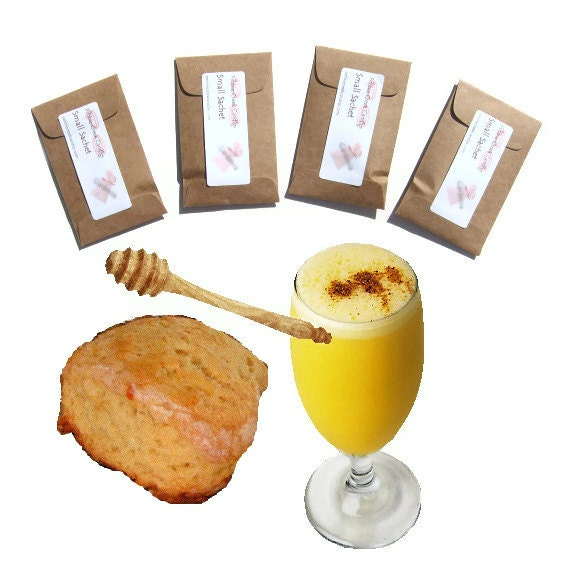 Orange Oatmeal Scones Scented Sachets Mini Home Fragrance Seed Packets Drawer Deodorizer Freshener Kraft Brown Rustic Favors Bakery Scent
