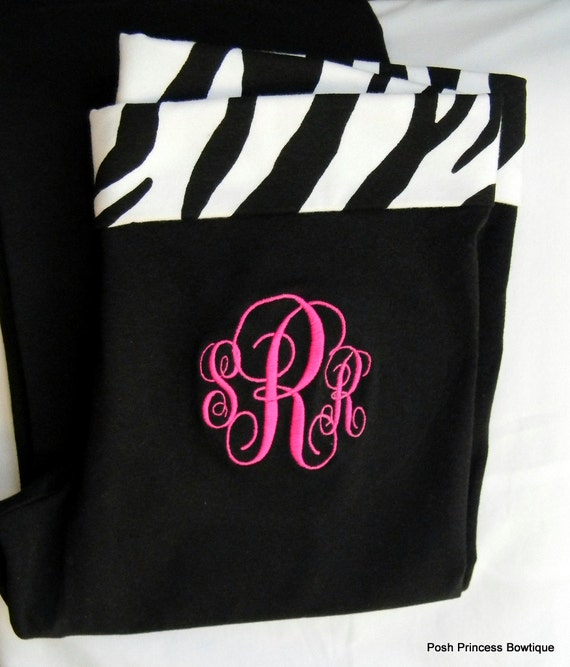 Monogrammed Yoga Pants Womens Ladies Women Youth Girls Personalized bridesmaid gift