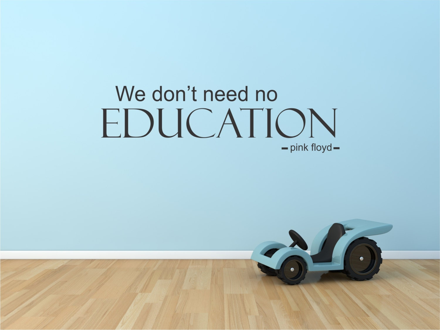 wall decal pink floyd we don t need no education pink zoom