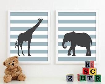Baby Boy Nursery Art for Boys Room Decor, Baby Boy Gift for Boy, Boys Wall Art for Boy Nursery Decor Playroom Boys Art Safari