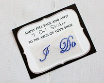 I Do Shoe Stickers for Brides Shoes, Weddings, Something Blue, Bridal Details   ROYAL BLUE
