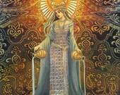 Star Goddess of Hope Mythological Tarot Art 11x14 Print