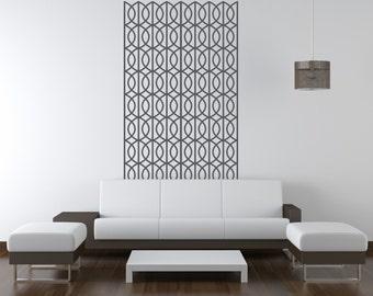 Geometric Wall Decal, Retro Wall Decal, Lattice Wall Decor, Lattice Wall Pattern, Figure Eight Wall Pattern, Nursery Wall Decal, Dorm Decor