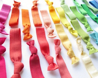 Elastic Hair Ties Grab Bag 50 Colors - What A Deal -  By The Cure For A Bad hair Day