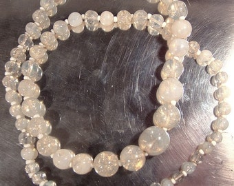 1920s Graduated OPALESCENT GLASS Bead NECKLACE