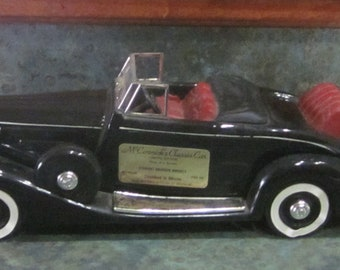 1937 Packard Twelve Roadster Convertible Car McCormick's Decanter 1970 Era