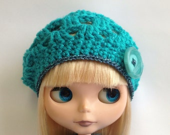 "PDF Pattern for Blythe Crochet beret  - 12"" Middie and Petite sizes included"