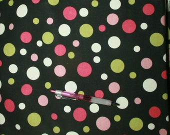 Retro Polka Dot fabric - SALE! 2+ yards for 15 bucks! Normally 12/yard. New. FREE US Shipping!