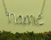Wire Name Necklace Wire Word Necklace Custom Personalized