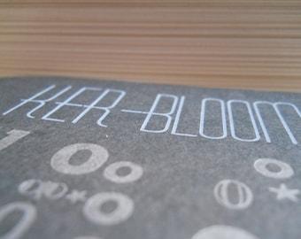 Kerbloom letterpress zine issue 100