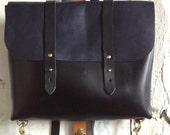 Rucksack briefcase in black and navy
