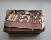 Vintage Letterpress Printers Block Malin's Everyday Coiled Wire Display Box