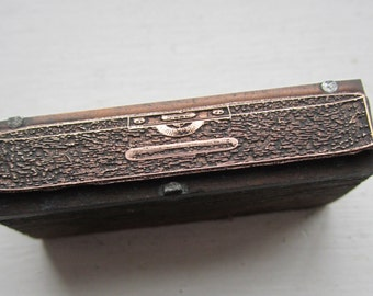 Vintage Letterpress Printers Block Wood Level