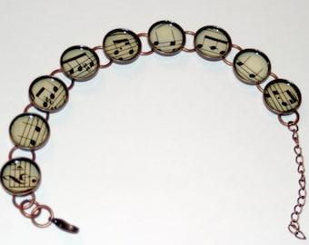 Vintage Sheet Music Bracelet