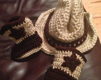 Baby Cowboy Boots and Hat set