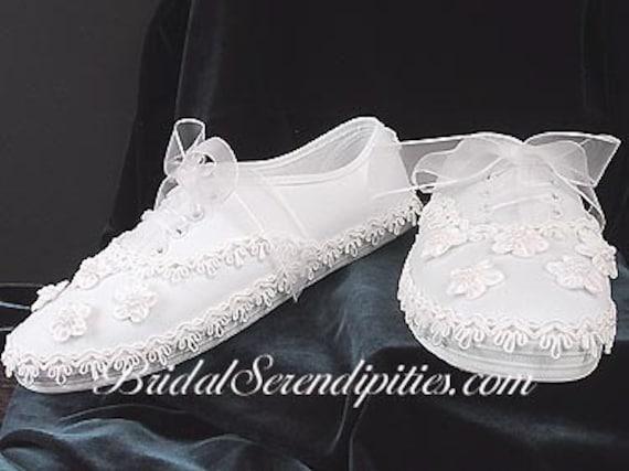 bridal tennis shoes sneakers custom by bridalserendipities