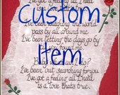 Custom listing for Sam