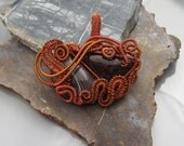 Copper Wire Wrapped Statement Pendant