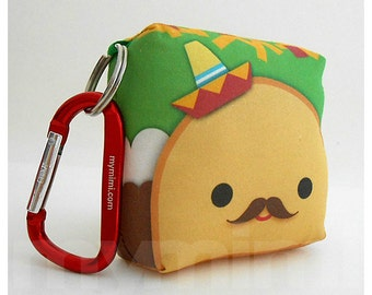 Toy Keychain, Taco Pillow, Sombrero, Kawaii Toy, Backpack Charm, Kids Toys, Party Favor, Stocking Stuffer, Holiday Gift