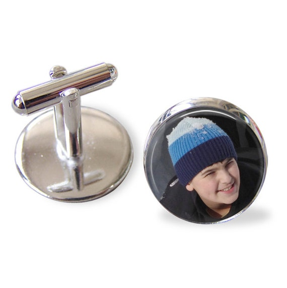 Custom Photo Cuff links -Personalized for Dad or Wedding -  Men's Keepsake - Father's Day, Wedding, Groom