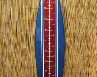 Tiki Soul Surfboard Children's Grow Chart- Made from High Quality Cypress Beach Decor, Hawaii Decor
