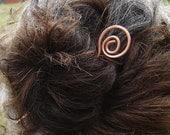 Open Spiral Copper Hair Stick, Shawl Pin, Long Hair Accessories, Bun Holder, Hair Jewelry, Hair Pin, Metal Hair Toy - Women