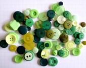 GREEN buttons x100g