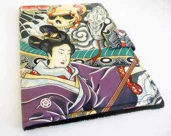 Zen Charmer Kindle Fire HD 8.9 Cover, Geisha, Snake and Skulls, Book Style Case for Amazon Kindle Fire HD