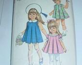 vintage Simplicity 7561 Size 1 toddler Dress PATTERN