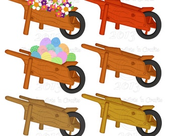 Wooden Wheelbarrow Clipart | www.pixshark.com - Images ...